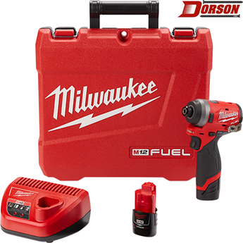 "MILWAUKEE M12 FUEL™ 1/4"" Hex Impact Driver Kit"